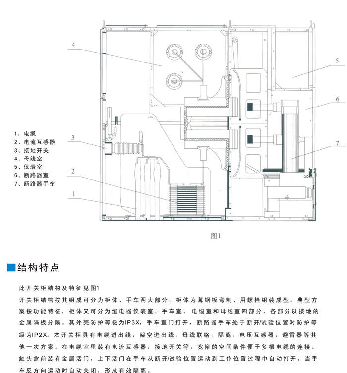 KYN61A-40.5型小型化铠装式金属封闭开关设备